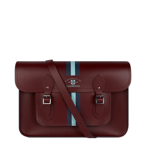 15 Inch University of Cambridge Satchel in Leather - Oxblood - Cambridge Satchel