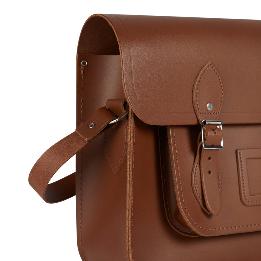 15 Inch Classic Satchel in Leather - Vintage