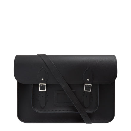 15 inch Classic Satchel in Leather - Black Saffiano