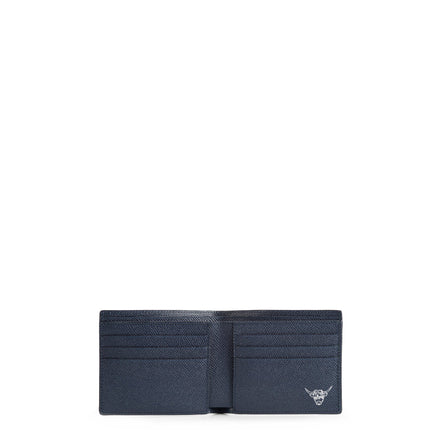 Year of the Ox Exclusive: Billfold Wallet in Leather - Navy Saffiano