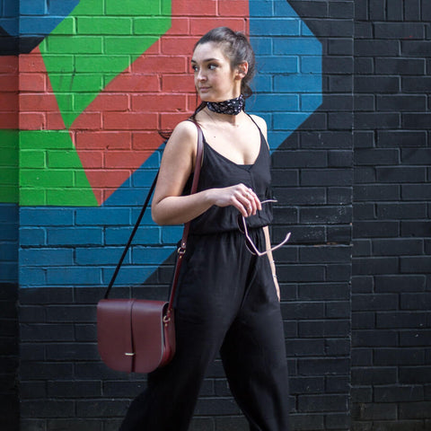 Womens | Large Saddle Bag in Leather - Oxblood | Cambridge Satchel