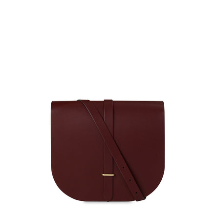 Large Saddle Bag in Leather - Oxblood | Cambridge Satchel