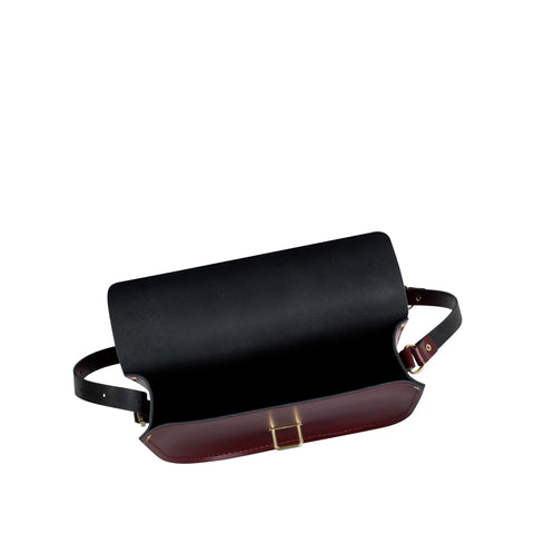Large Saddle Bag in Leather - Oxblood