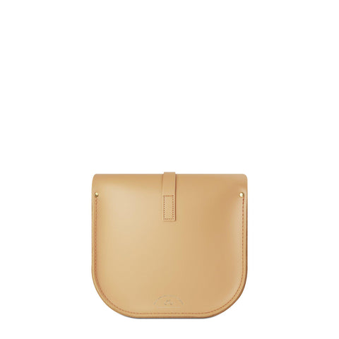 Large Saddle Bag in Leather - Sand