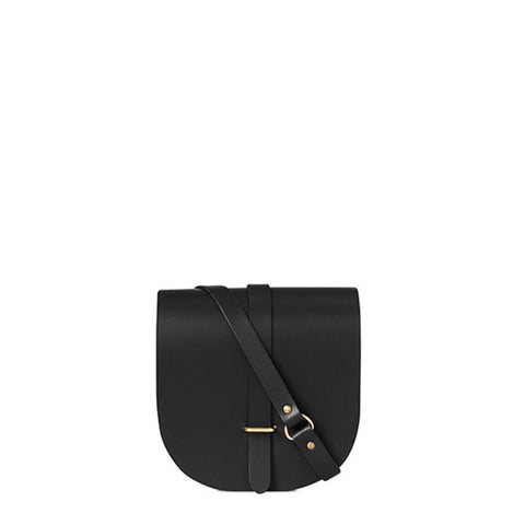 Saddle Bag in Leather - Black Premium