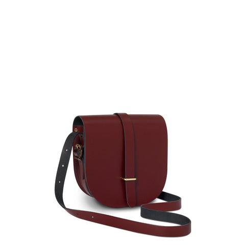 Saddle Bag in Leather - Oxblood