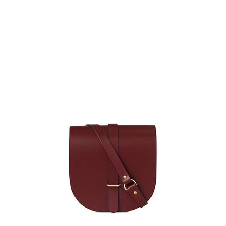 Saddle Bag in Leather - Oxblood | Cambridge Satchel