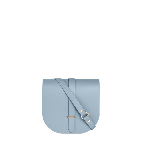 Saddle Bag in Leather - Periwinkle Blue