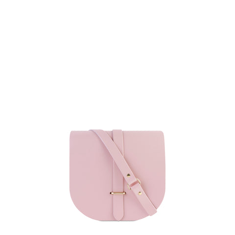 Saddle Bag in Leather - Dusky Rose