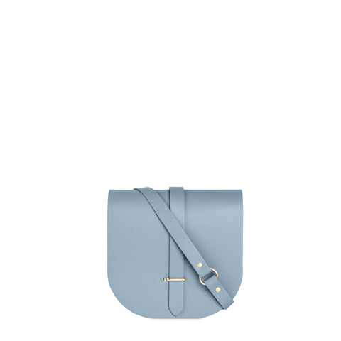 Saddle Bag in Leather - French Grey