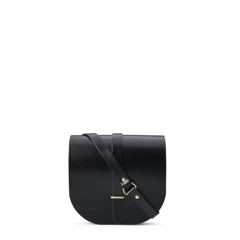 Saddle Bag in Patent Leather - Black Patent