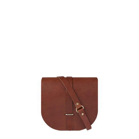 Saddle Bag in Leather - Tan