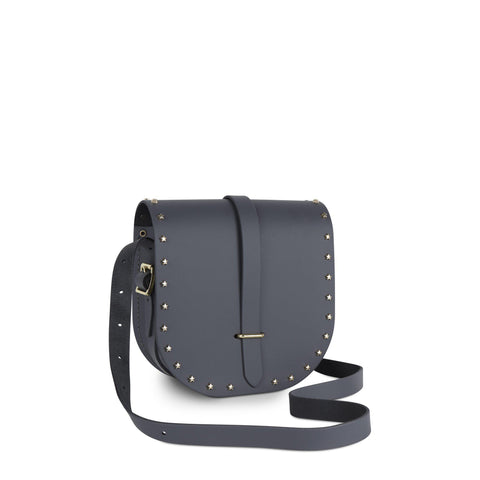 Saddle Bag in Leather - Dapple Matt & Star Studs