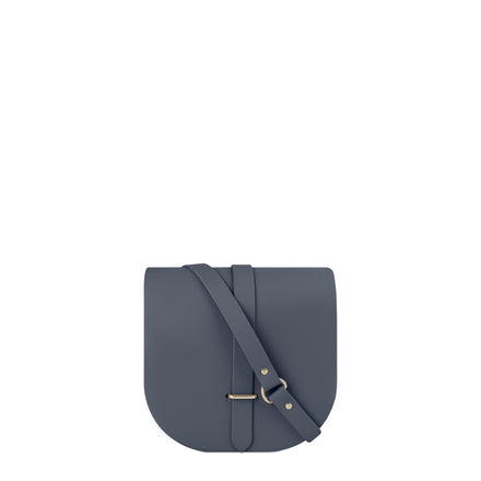 Saddle Bag in Leather - Storm Matte