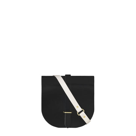 Saddle Bag in Patent Leather - Black Clay