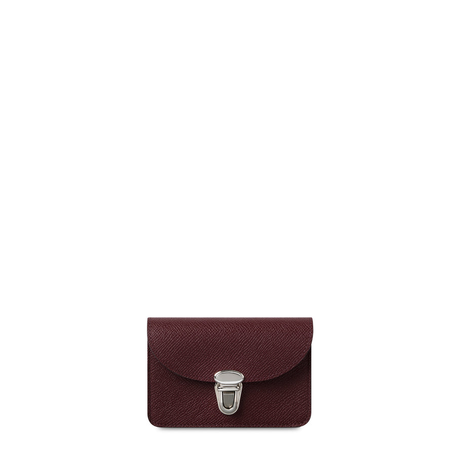 Small Push Lock Purse in Saffiano Leather - Oxblood