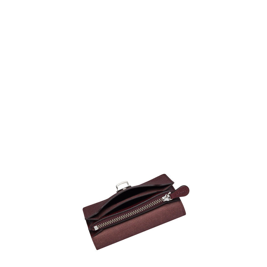 Oxblood Small Push Lock Purse Cambridge Satchel