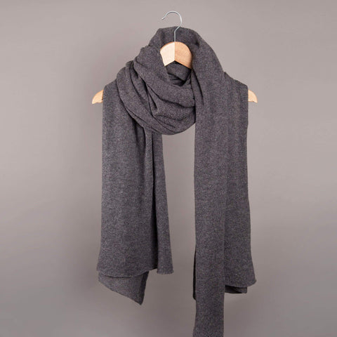 Cambridge Life Cashmere Scarf - Charcoal