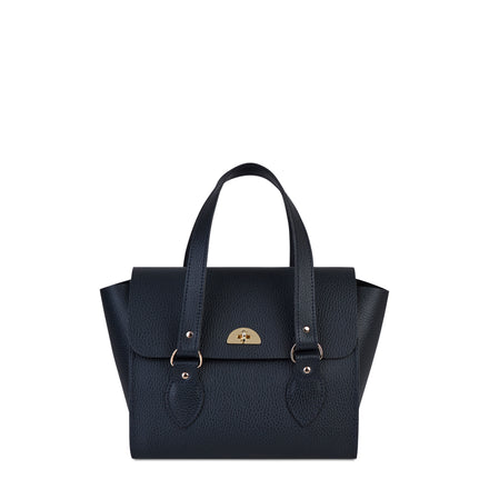 Navy Cambridge Satchel Women's Leather Handbag