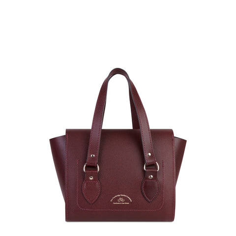 The Small Emily Tote - Oxblood Saffiano - Cambridge Satchel