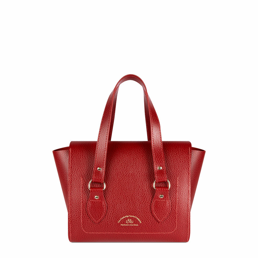 The Small Emily Tote - Red Celtic Grain
