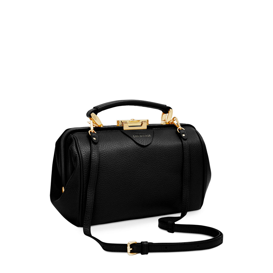 The Sophie Leather Handbag - Midnight Black | Women's Small Doctors Bag