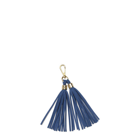 Tassel Keyring in Suede Leather - Ocean Blue Suede