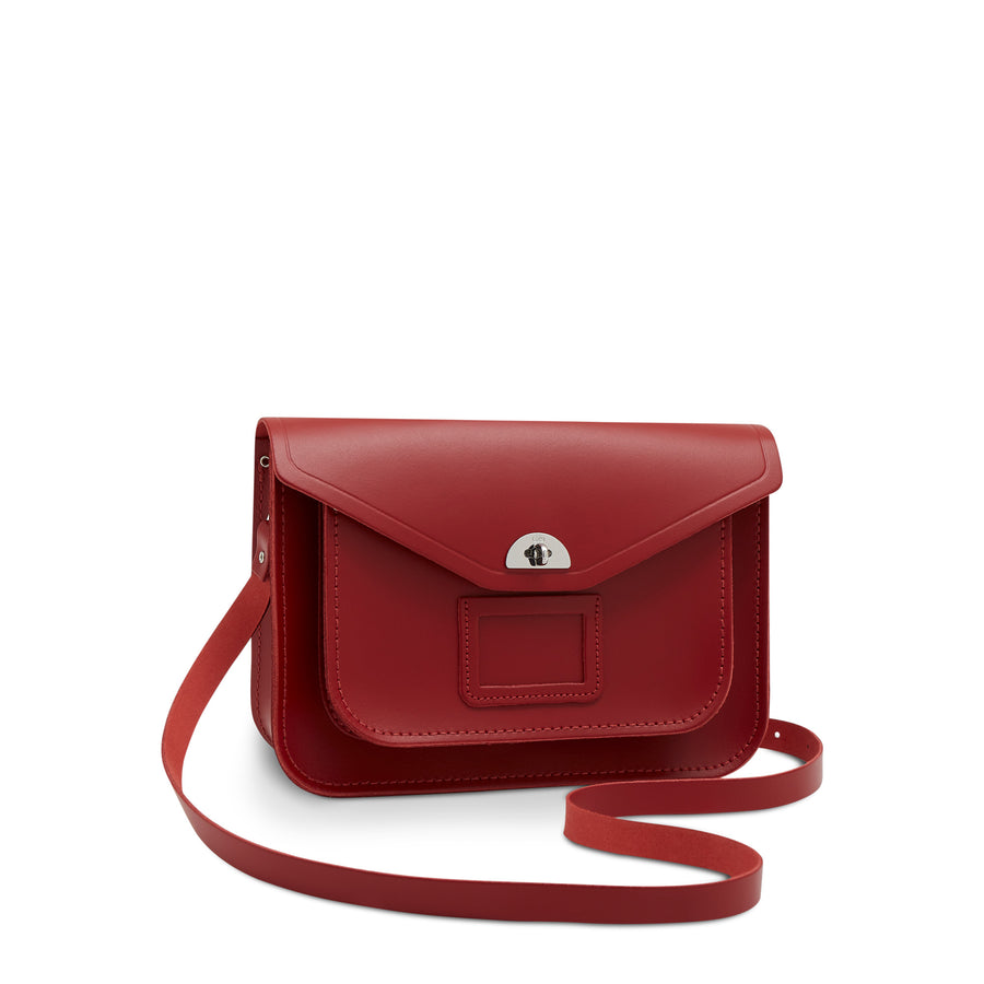 Red Twistlock Leather Cambridge Satchel Bag Worn by Taylor Swift