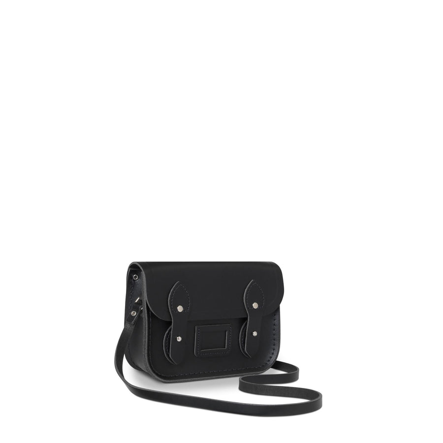 Tiny Satchel in Leather - Black - Cambridge Satchel