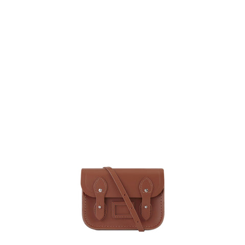 Tiny Satchel in Leather - Russet