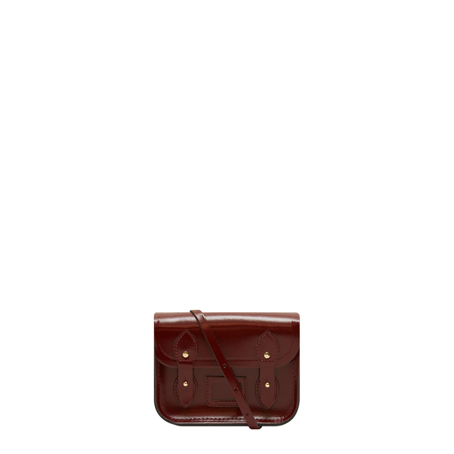 Tiny Satchel in Leather - Patent Oxblood | Cambridge Satchel