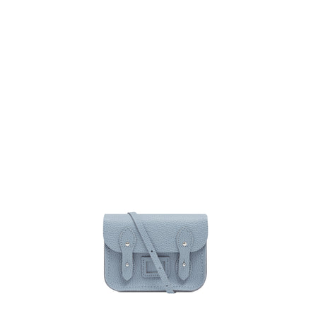 Tiny Satchel in Leather - French Grey Celtic Grain