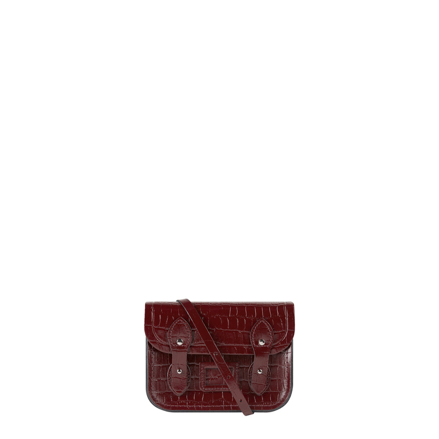 464df64586 Tiny Satchel in Leather - Oxblood Patent Croc