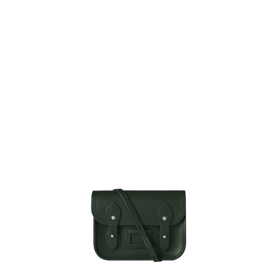 Tiny Satchel in Leather - Racing Green