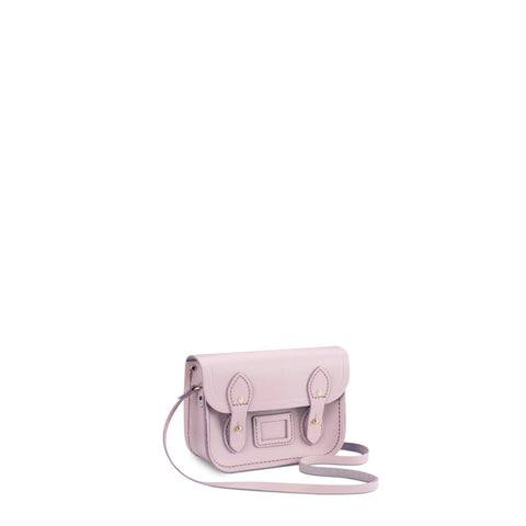 Tiny Satchel in Leather - Light Lilac