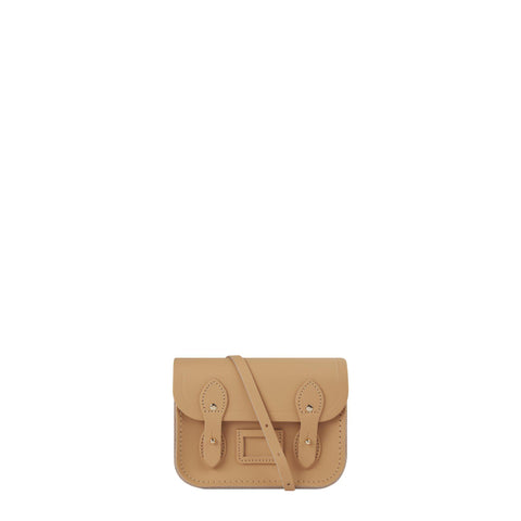 Tiny Satchel in Leather - Safari Sand
