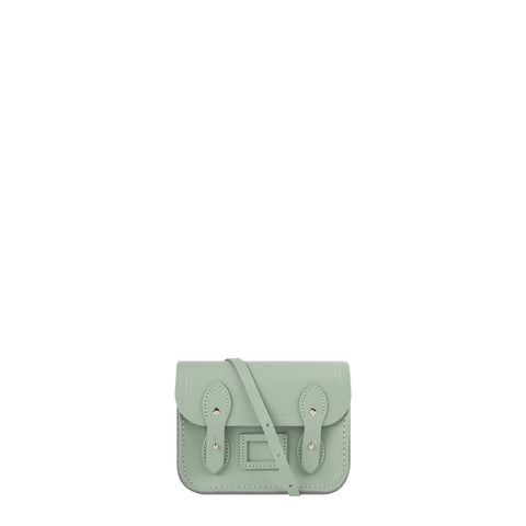 Tiny Satchel in Leather - Sabi Green