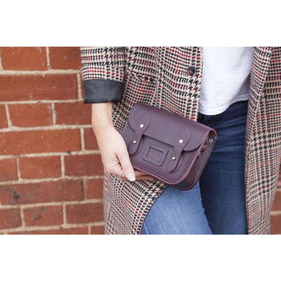 Womens- Tiny Satchel in Leather - Juniper Saffiano