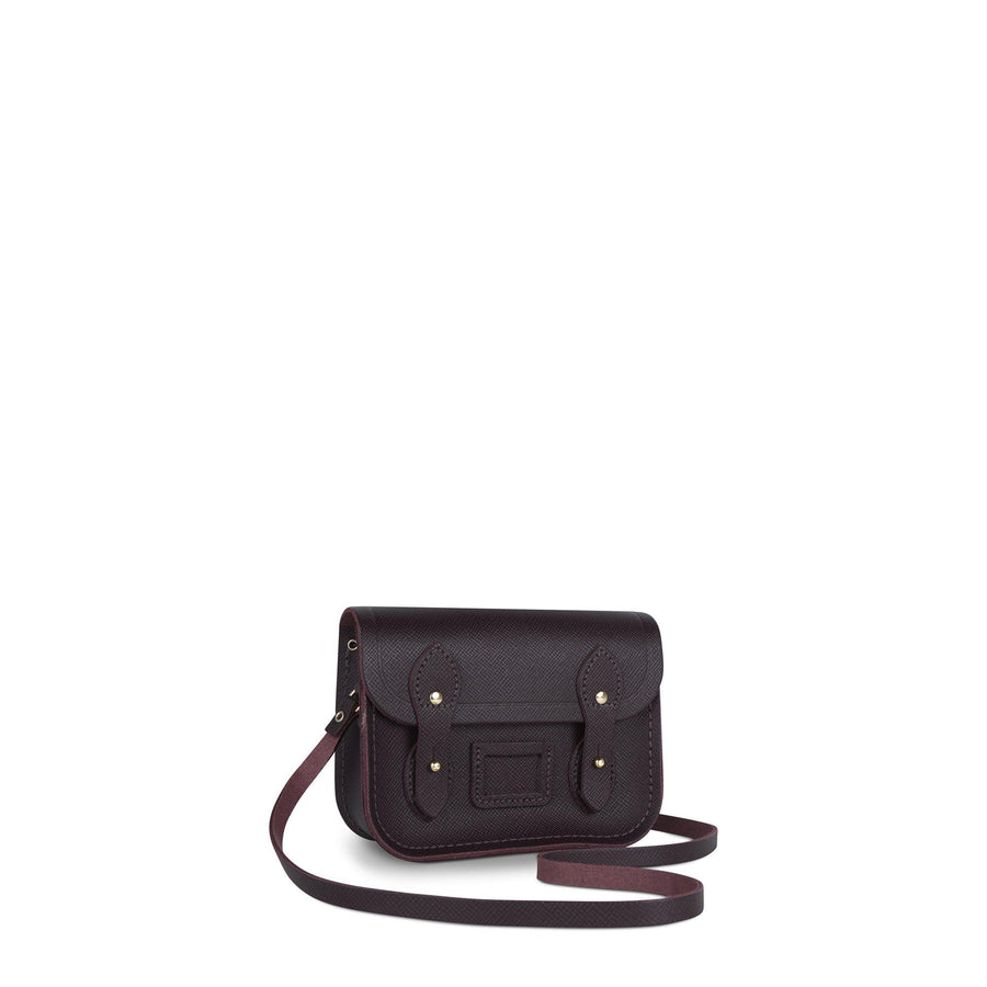 Tiny Satchel in Leather - Juniper Saffiano
