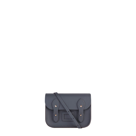 Tiny Satchel in Leather - Storm Matte | Women's Cross Body & Clutch Bag