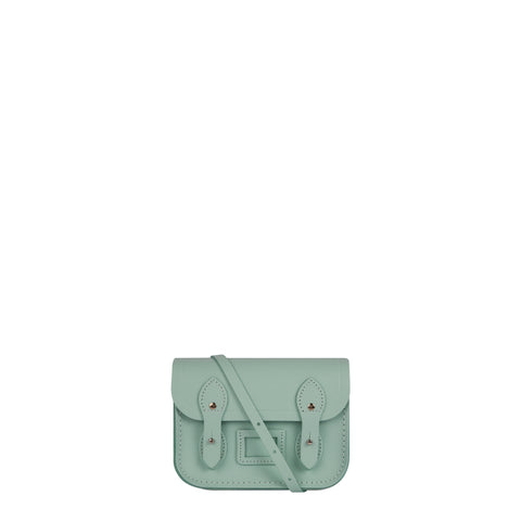 Tiny Satchel in Leather - Sweet Pea Blue Saffiano - Cambridge Satchel