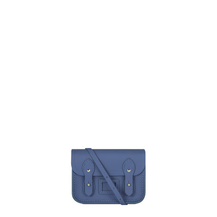 Tiny Satchel in Leather - Italian Blue Matte