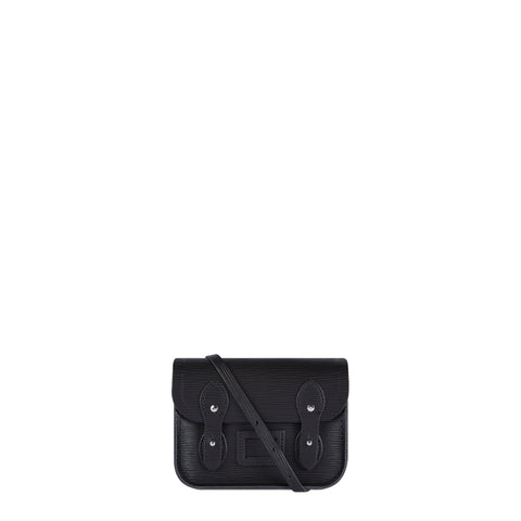 Tiny Satchel in Leather - Black 1914 Grain - Cambridge Satchel