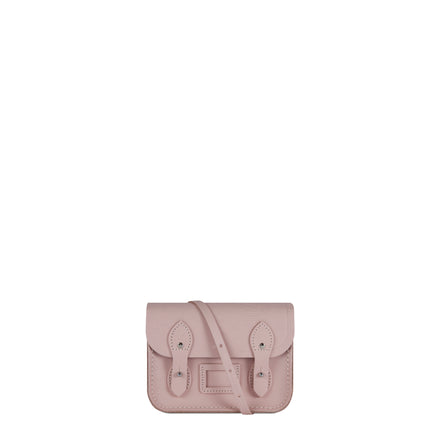 Pale Pink Leather Tiny Cambridge Satchel Cross Body Bag