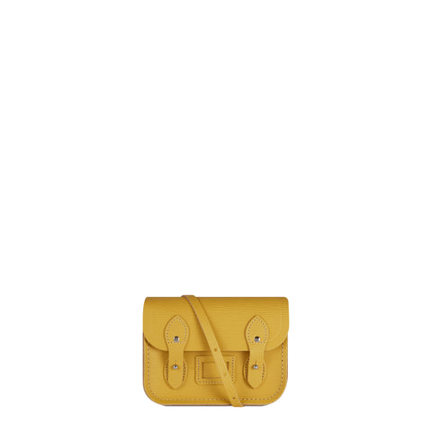 Tiny Satchel in Leather - Indian Yellow 1914 Grain