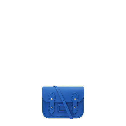 Tiny Satchel in Leather - Electric Cornflower Matte