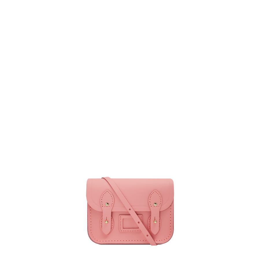 Tiny Satchel in Leather - Hot Rose Matte
