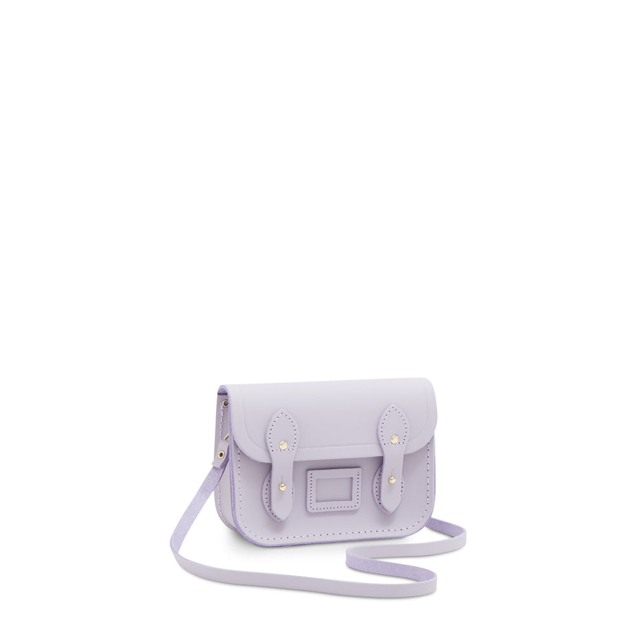 Tiny Satchel in Leather - Parma Violet Matte