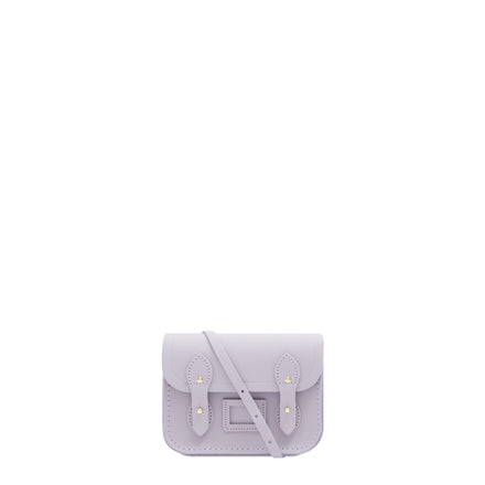 Purple Leather Tiny Cambridge Satchel Cross Body Bag