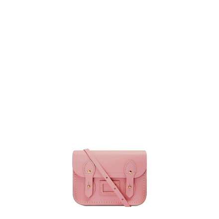 Pink Leather Tiny Cambridge Satchel Cross Body Bag